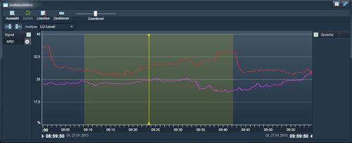 Multi-Audio-Support. Encodierung, Aufzeichnung, Streaming von Audiokanälen. Lautstärkekontrolle.