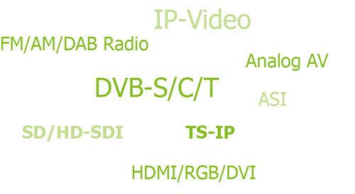 Multisignal-Quellen verarbeiten. XENTAURIX Receiver mit Entschlüsselung für analoge + IP Streams.