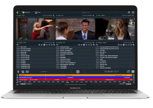 Record many Web TV Streams + Web pages parallel, analyze shows, replay the shows time-shifted