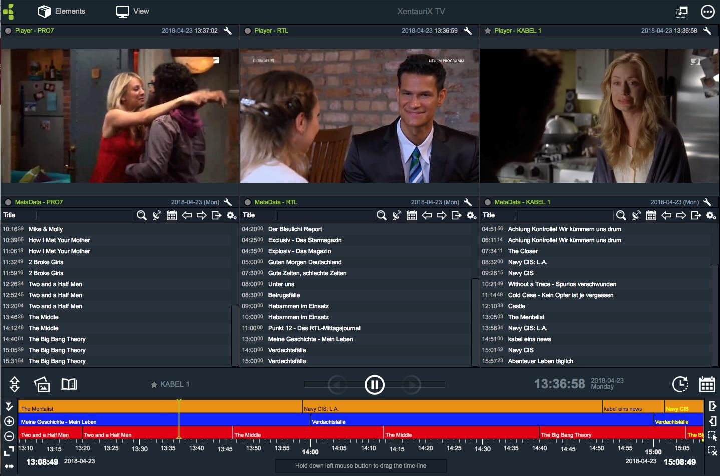 Digital den Wettbewerb beobachten. Sendungen zeitversetzt verfolgen. Was senden die Wettbewerber?